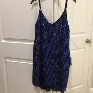 Nordstrom sequin black and blue dress